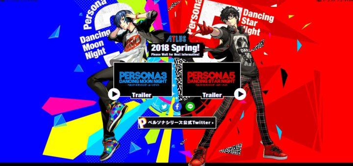 Persona 3 Dancing Moon Night Persona 5 Dancing Star Night