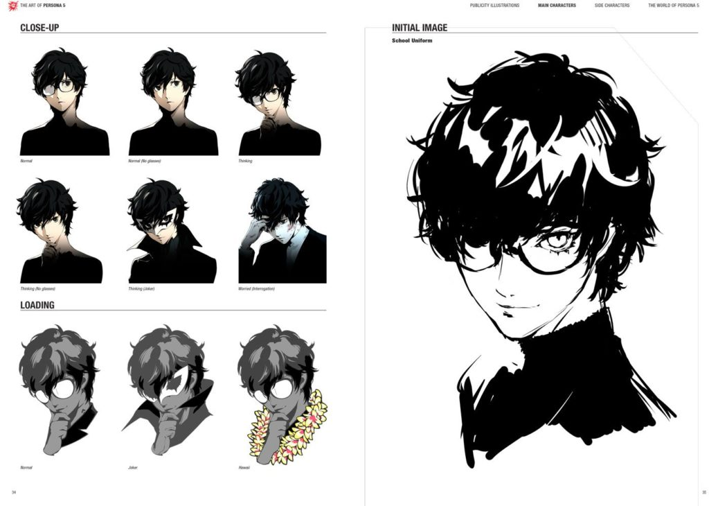The Art of Persona 5, scans